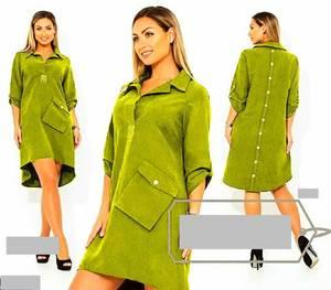 Платье короткое однотонное А21363