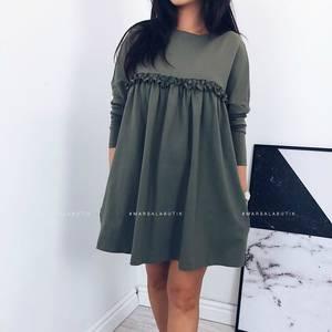 Платье короткое однотонное А10935