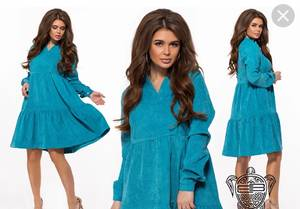 Платье короткое с длинным рукавом А16937