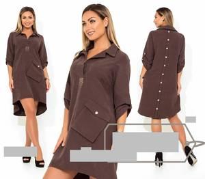 Платье короткое однотонное А21364