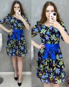 Платье короткое повседневное А30585