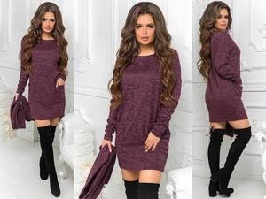 Платье короткое с длинным рукавом А17280