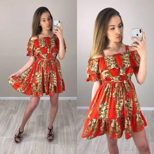 Платье короткое с принтом летнее Т4192