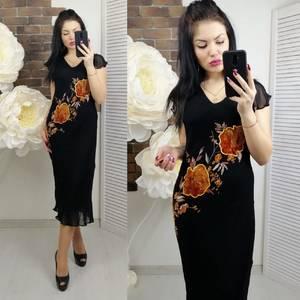 Платье длинное черное Х5299