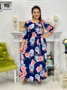Платье длинное с принтом Ю9627
