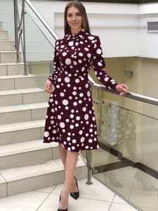 Платье короткое с длинным рукавом Я1400