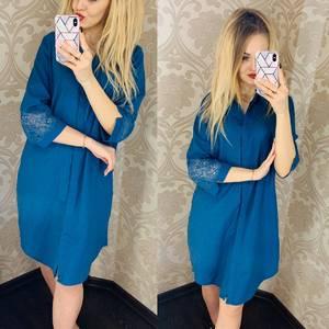 Платье короткое однотонное Я1751