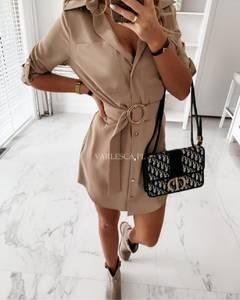 Платье короткое однотонное Я2619