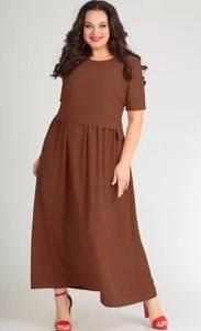 Платье длинное однотонное Я4111