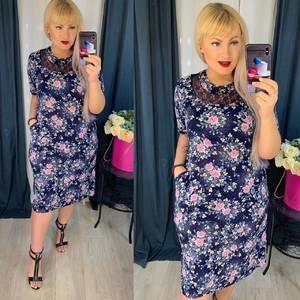 Платье короткое повседневное Я5106