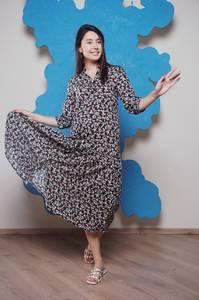 Платье длинное с принтом Ч1177