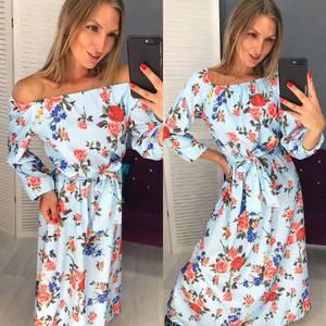Платье длинное с принтом Ч1588
