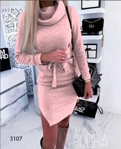 Платье короткое с длинным рукавом А09609