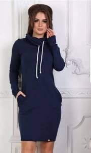 Платье короткое с длинным рукавом А10067