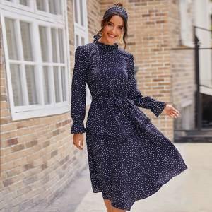 Платье короткое с длинным рукавом А32714