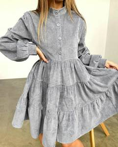 Платье короткое с длинным рукавом А33786