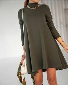 Платье короткое однотонное А54829