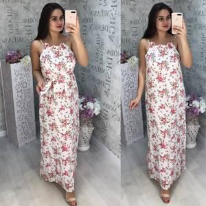 Платье длинное летнее Ц5653
