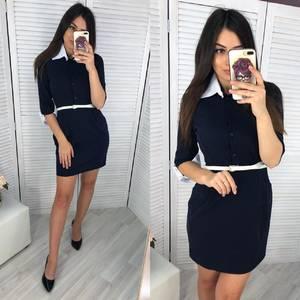 Платье короткое классическое Ч6608