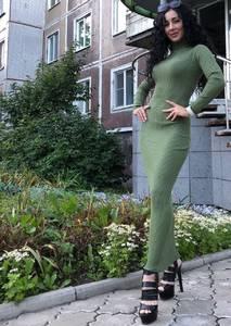 Платье длинное с длинными рукавами Ч9840