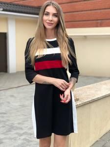 Платье короткое с рукавом 3/4 Ш1748