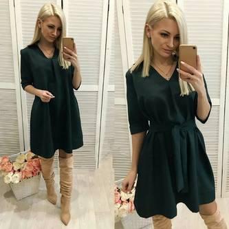 Платье короткое с длинным рукавом Ш4404