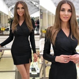 Платье короткое нарядное Ю0844