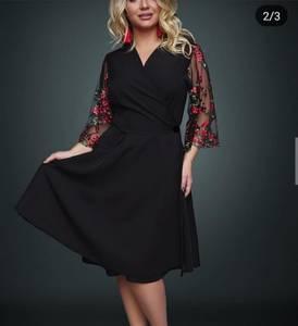 Платье короткое нарядное Ю2640