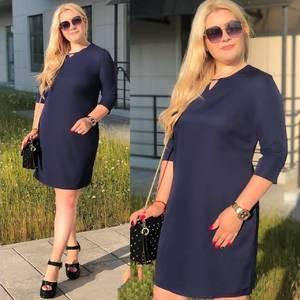Платье короткое однотонное Ю4326