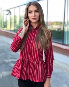 Рубашка в полоску Ч9518