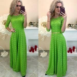Платье длинное однотонное Ш7385