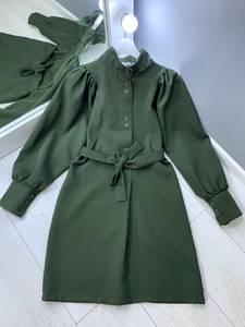 Платье короткое с длинным рукавом Ю4302