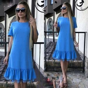Платье короткое нарядное Ю6432