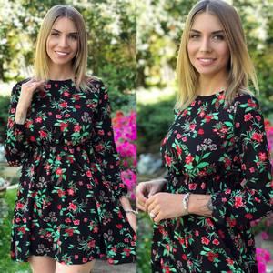 Платье короткое с принтом Я7474