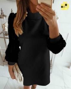 Платье короткое однотонное А07196