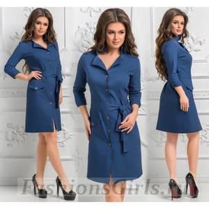 Платье короткое однотонное Ч7390