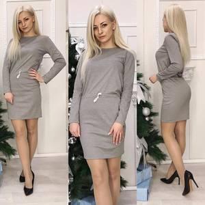 Платье короткое с длинным рукавом Ч0697
