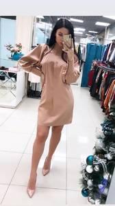Платье короткое однотонное Ю4303