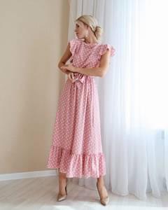 Платье длинное летнее А01536
