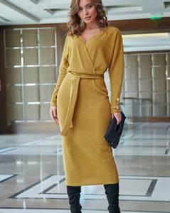 Платье длинное однотонное А09541