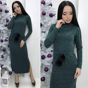 Платье длинное с длинными рукавами Ш2979