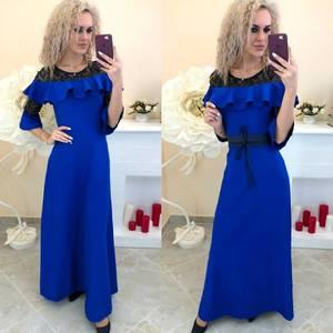 Платье длинное однотонное Ш7387