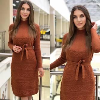 Платье короткое с длинным рукавом Ю0833