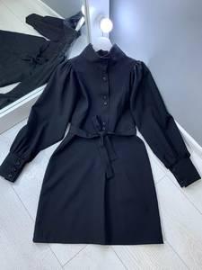 Платье короткое с длинным рукавом Ю4304