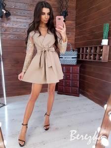 Платье короткое нарядное Ю7594