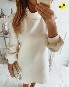 Платье короткое однотонное А07198