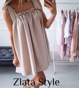 Платье короткое однотонное Ч7845