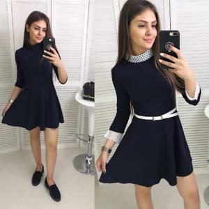 Платье короткое классическое Ц7536