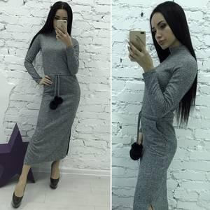 Платье длинное с длинными рукавами Ш2980