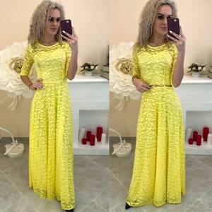 Платье длинное однотонное Ш7388